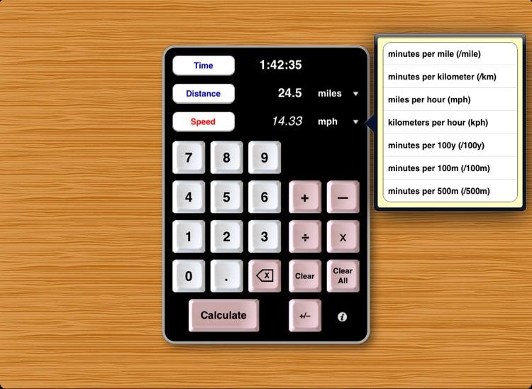 Athlete's Calculator for iPad screenshot-3