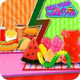 Gummy Food Vs Real Food Challenge! Dare To Win