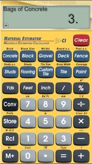 Material Estimator iphone images