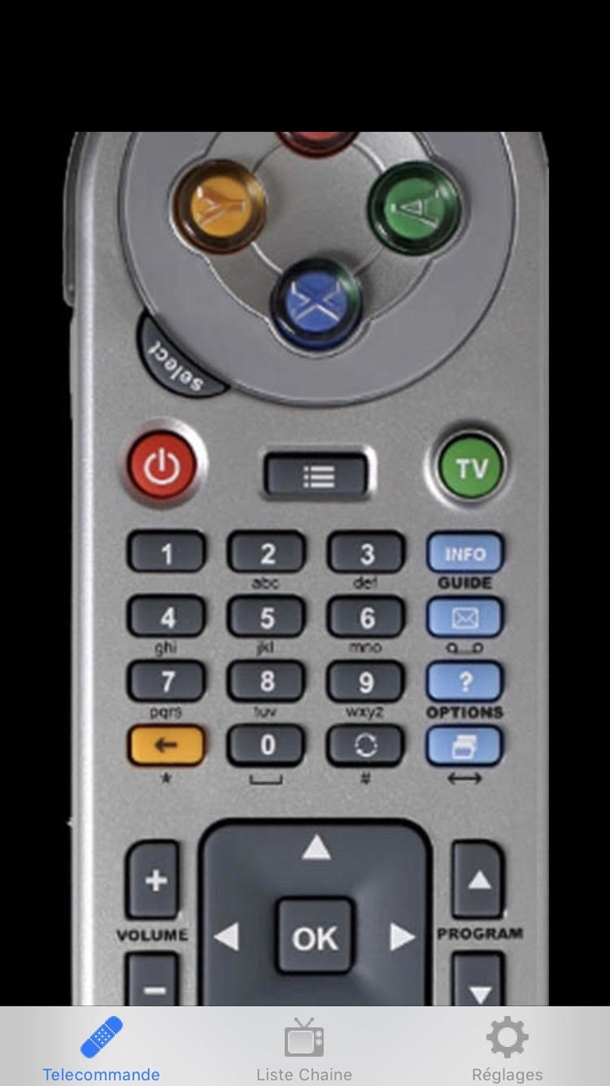 Freebox Telecommande Screenshot