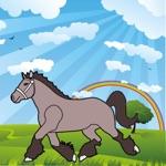 Kleurplaten van paarden pony