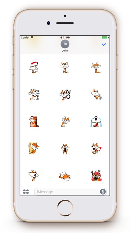 Fox Emoji Stickers