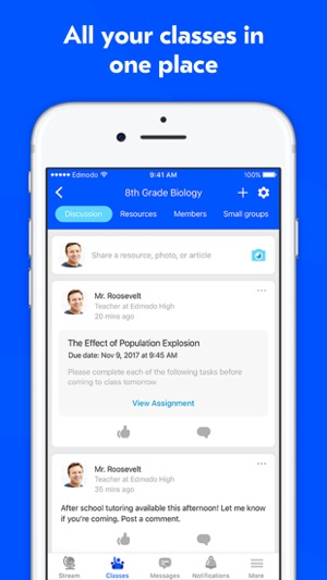 Edmodo classroom tools on the app store stopboris Images