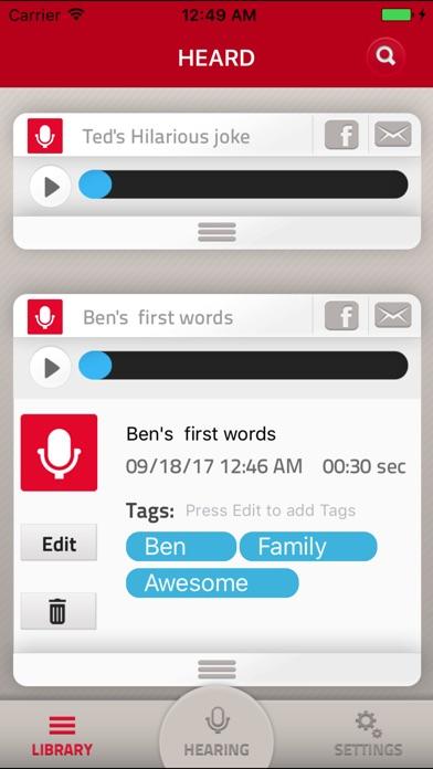 HEARD - the Plan B for memory app