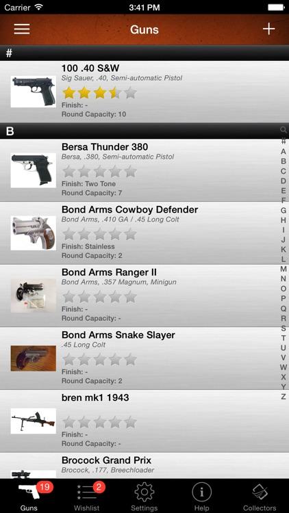 Gun Firearm Ammo Database