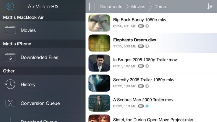 Air Video HD. screenshot-0