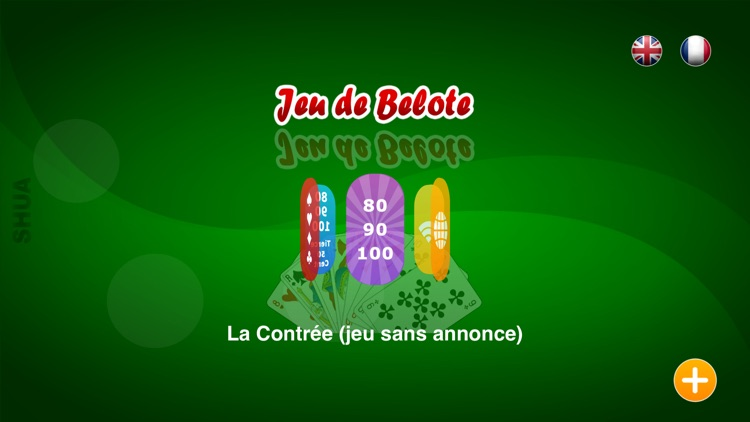 Jeu de Belote for iPhone