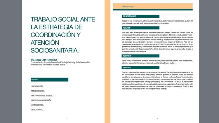 Revista Actas. Fundación Caser screenshot-3