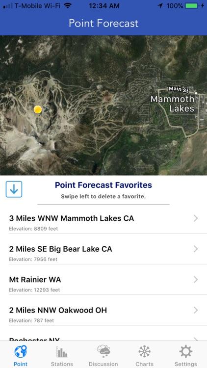 NOAA Ski & Snow Forecast