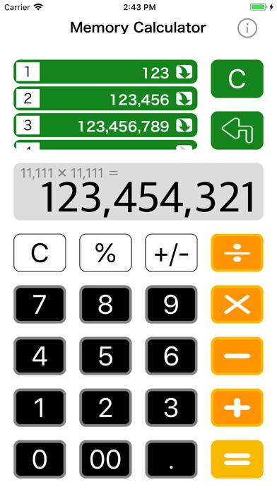 Calculatrice avec mémoire