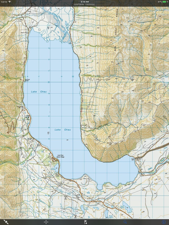 NZ Topo50 South Island on the