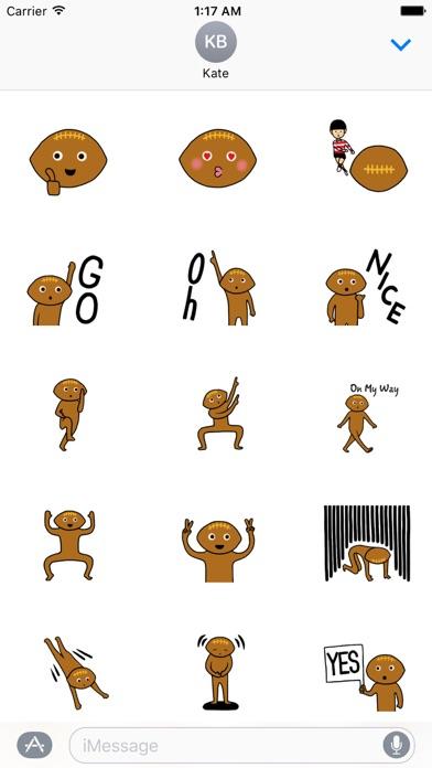 Rugby Ball Emoji Sticker screenshot 1