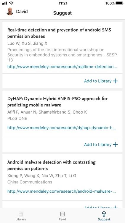 Mendeley (PDF Reader) screenshot-3