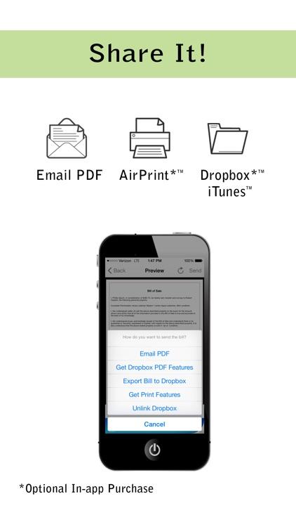 Pocket Bill of Sale Lite screenshot-4