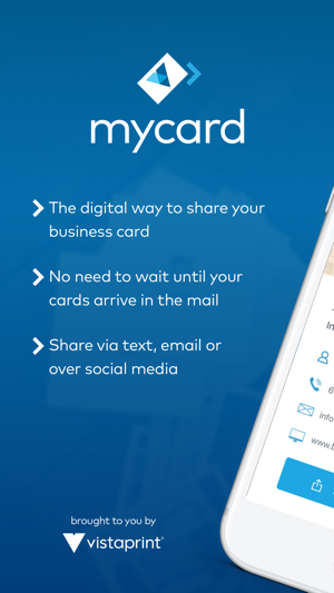 Mycard by vistaprint on the app store iphone screenshots reheart Gallery