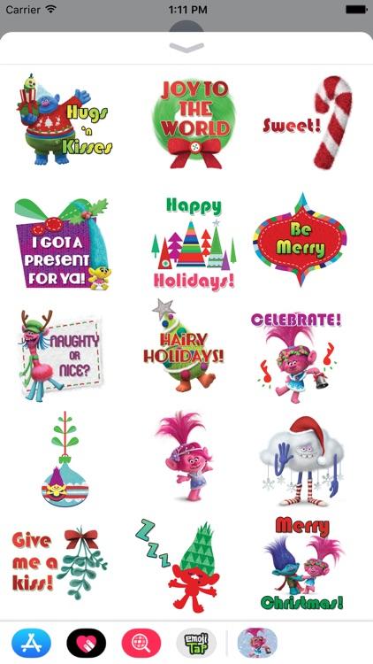 Trolls Holiday Stickers
