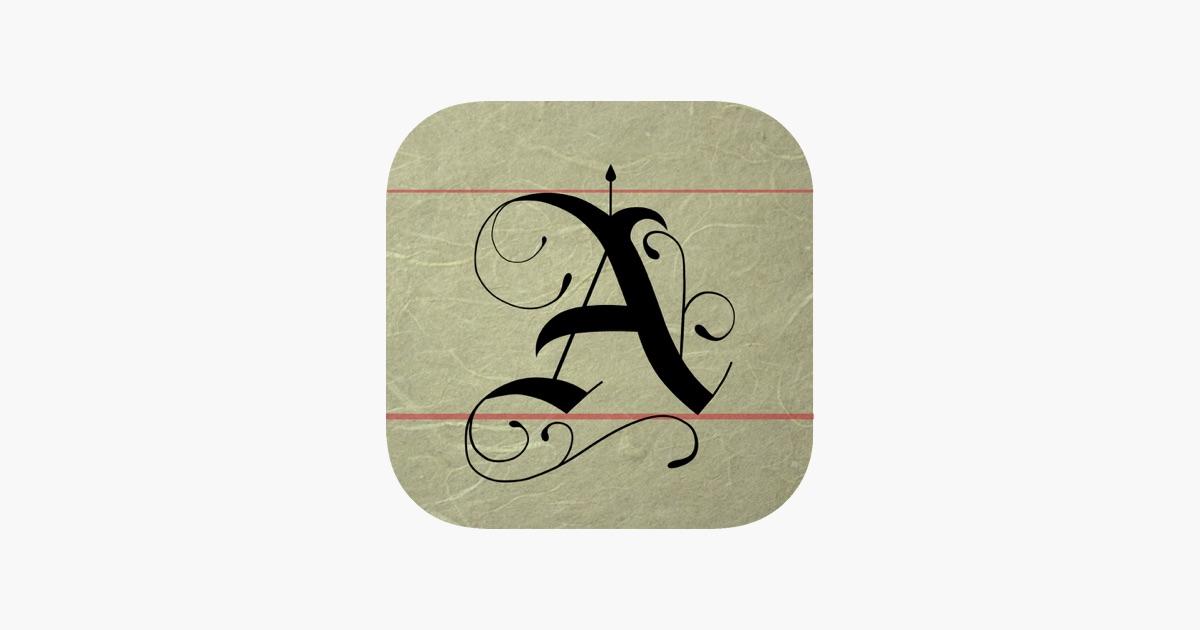 Calligraphy handbook on the app store