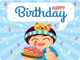 Birthday Cake Stickers Pack