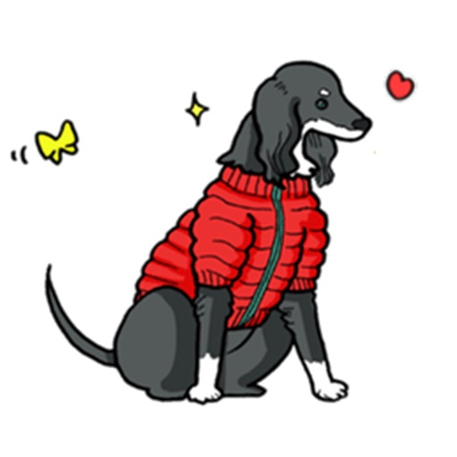 Cute Saluki Dog Sticker