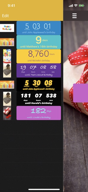 Birthday Countdown On The App Store