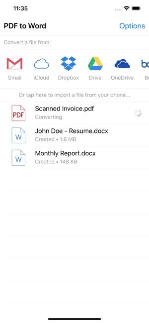 convertidor de pdf a word gratis online