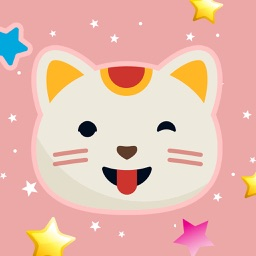 Cute Fun Cats Emoji Photo Stickers