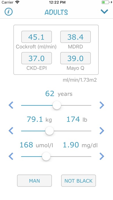 Screenshot for Creatinine 2018 (AIMapps) in Denmark App Store