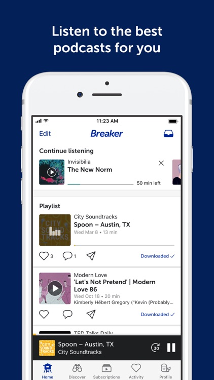 Breaker—The social podcast app screenshot-0