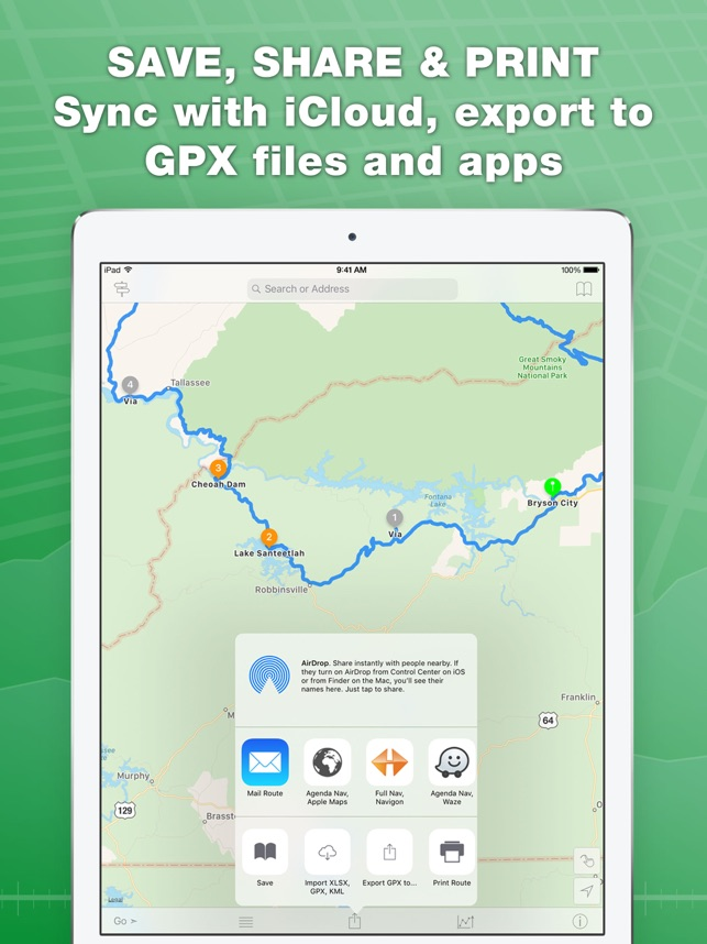 inroute route planner on the app store