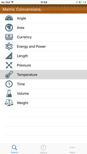 Metric Conversion tool on the App Store