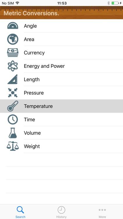 Metric Conversion tool