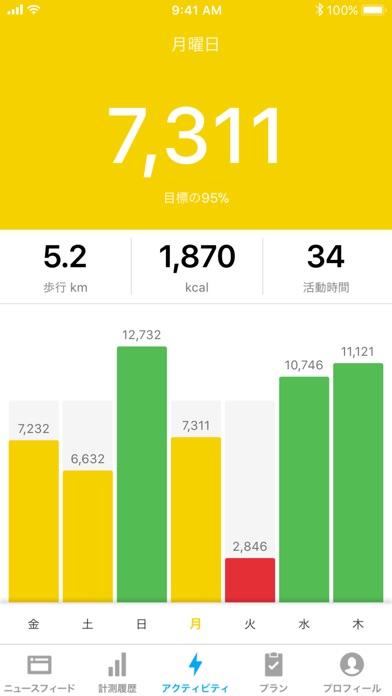 Runtastic Steps 歩数計 screenshot1