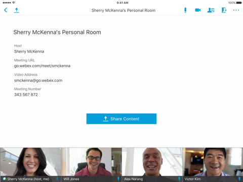 Cisco WebEx Meetings screenshot 1