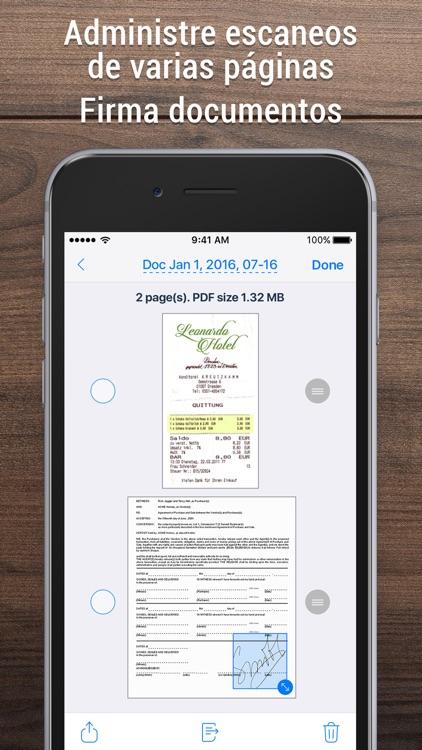 iScanner - Escáner PDF y fotos screenshot-3