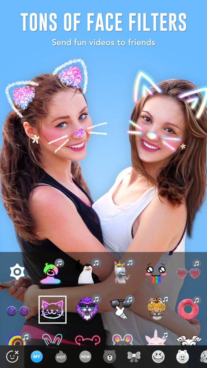 BOO! - Video chat camera with filters & stickers Screenshot