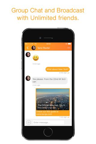 OneTime Messenger - náhled