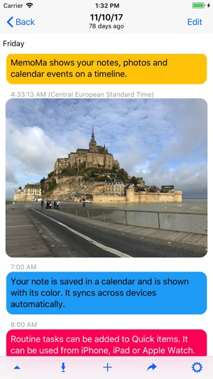 MemoMa: notes on calendar Screenshot