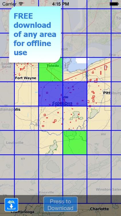 Aqua Map Ohio Lakes GPS screenshot-5