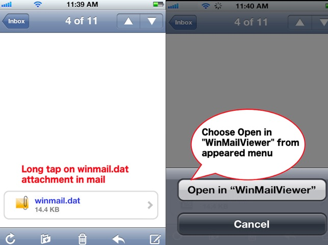 Winmail Viewer for iPhone and iPad