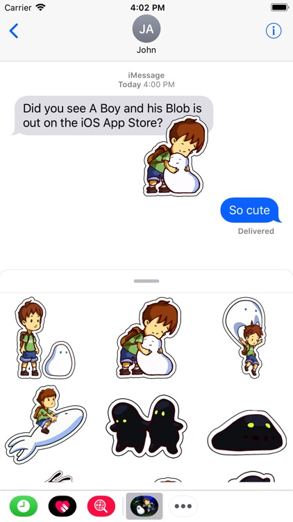 A Boy and his Blob Stickers