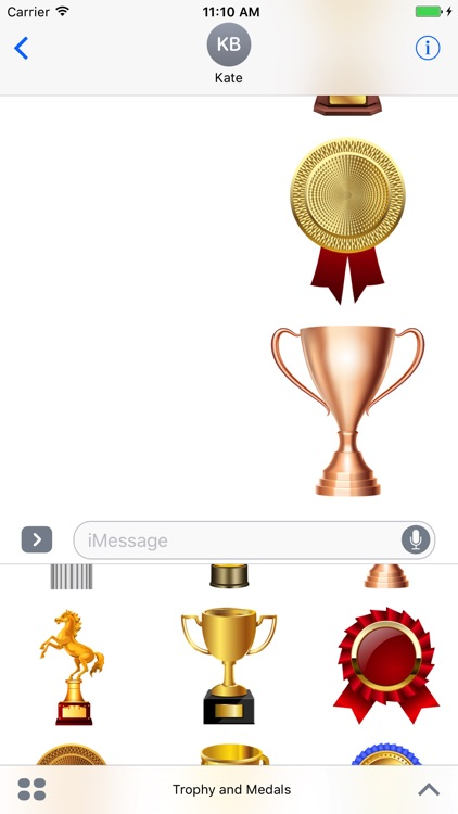 Trophy and Medals for iMessage screenshot-4