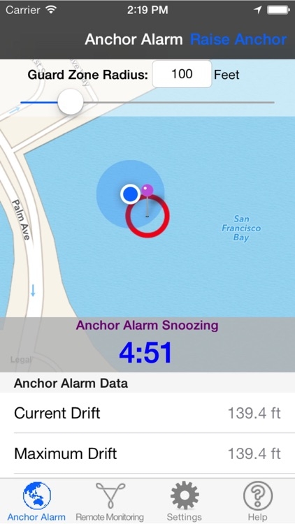 Anchor Alarm for Boaters