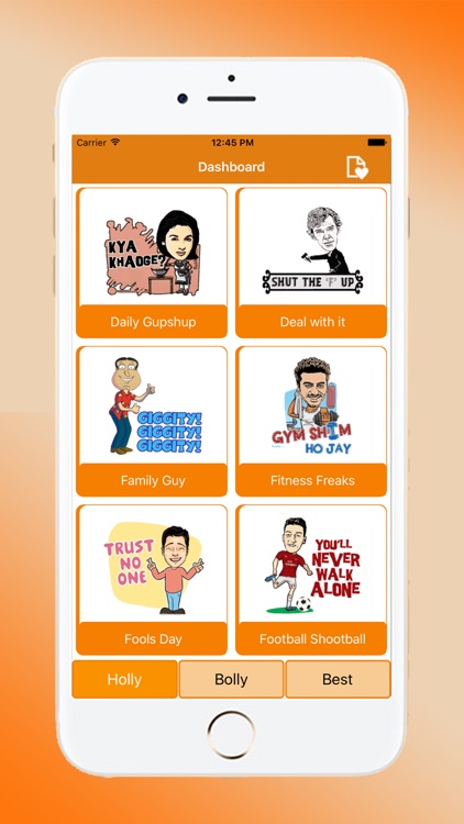 Holly Bolly Chatting Stickers