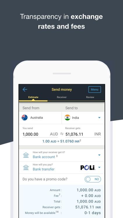 WesternUnion AU Money Transfer screenshot-4