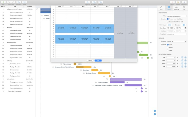 Project Office Gantt Chart On The Mac App Store