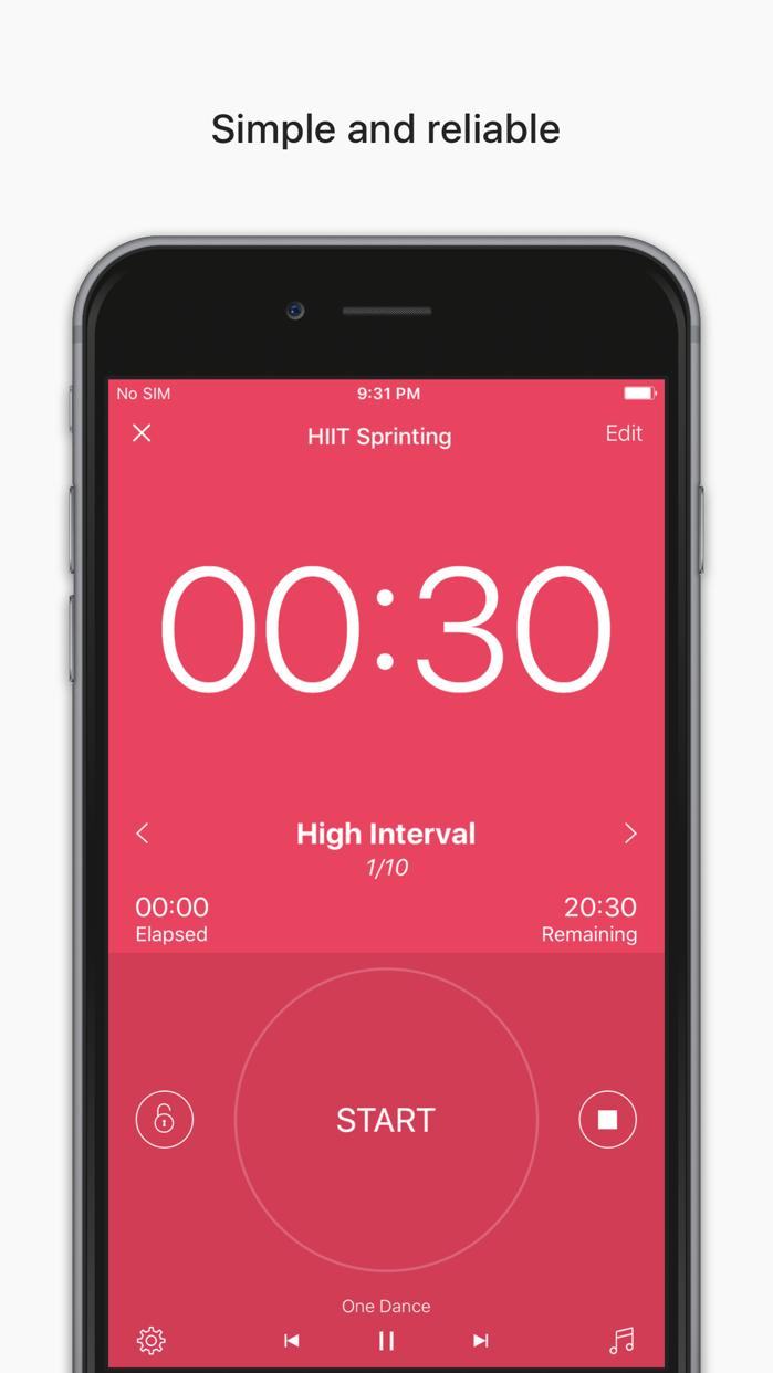 Interval Timer - HIIT Workouts Screenshot