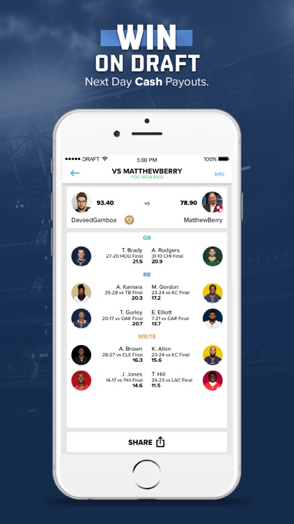 DRAFT: Daily Fantasy Football screenshot-3