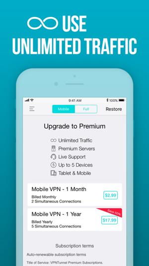private tunnel free premium account