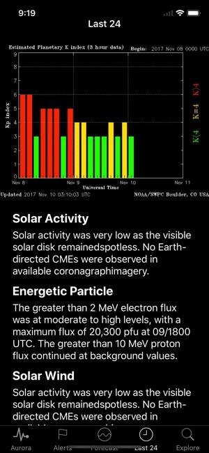 Space Weather App Screenshot