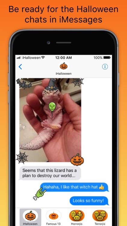 iHalloween scary stickers screenshot-2
